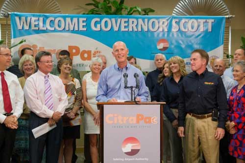 Florida Governor Rick Scott announces CitraPac Launch Sebring FL